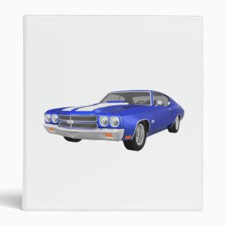 "Coche 1970 del músculo de Chevelle: Final azul: Carpeta 1"""