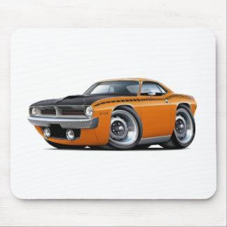 Coche 1970 del naranja de Cuda AAR Tapetes De Ratones