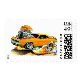 Coche 1970 del naranja de Plymouth Cuda Envio