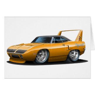 Coche 1970 del naranja de Plymouth Superbird Felicitación