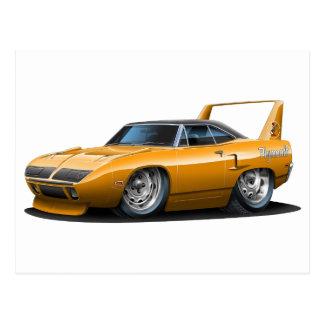 Coche 1970 del naranja de Plymouth Superbird Tarjetas Postales