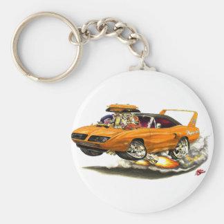 Coche 1970 del naranja de Superbird Llavero