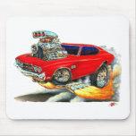 Coche 1970 del rojo de Chevelle Tapetes De Ratón