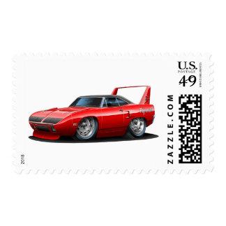 Coche 1970 del rojo de Plymouth Superbird Sellos