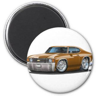 Coche 1971-72 de Chevelle Brown Imán Redondo 5 Cm