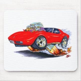 Coche 1973-76 del rojo del Corvette Alfombrillas De Ratones