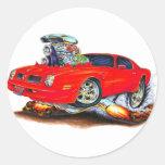 Coche 1974-76 del rojo de Firebird Pegatinas Redondas