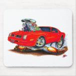 Coche 1974-76 del rojo de Firebird Alfombrilla De Ratón