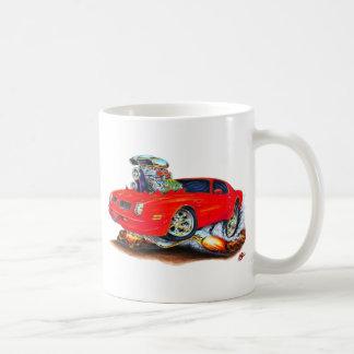 Coche 1974-76 del rojo de Firebird Taza De Café