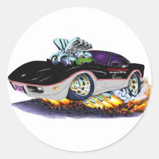 Coche 1978 de paso de Indy del Corvette Pegatina Redonda