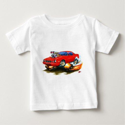 Coche 1979-81 del rojo de Camaro T-shirts