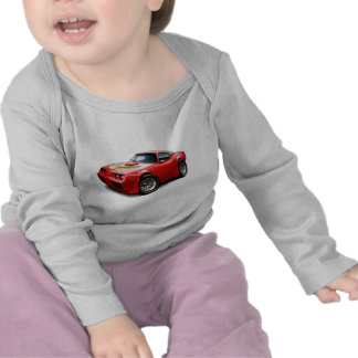 Coche 1979-81 del rojo del transporte camiseta