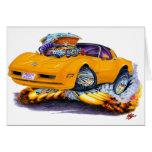 Coche 1980-82 del naranja del Corvette Felicitación