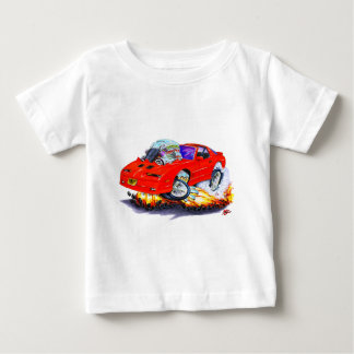 Coche 1982-92 del rojo del transporte playera de bebé