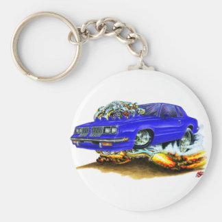 Coche 1983-88 del azul del machete llavero redondo tipo pin