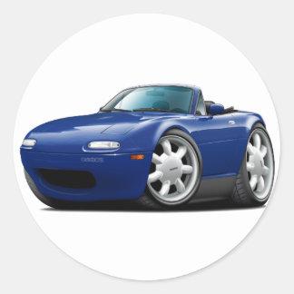 Coche 1990-98 del azul de Miata DK Pegatina Redonda