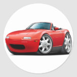 Coche 1990-98 del rojo de Miata Etiqueta Redonda