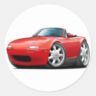 Coche 1990-98 del rojo de Miata Pegatina Redonda