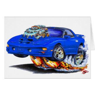 Coche 1998-02 del azul del transporte de Firebird Felicitaciones