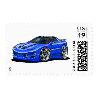 Coche 1998-02 del azul del transporte sellos