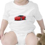 Coche 1998-02 del rojo del transporte trajes de bebé