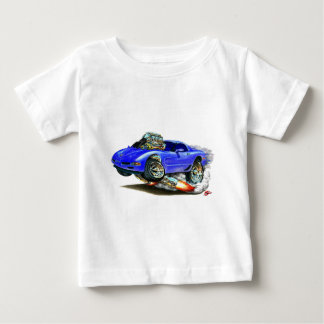 Coche 1998-2004 del azul del Corvette Playera Para Bebé