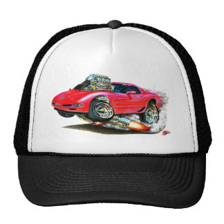 Coche 1998-2004 del rojo del Corvette Gorras