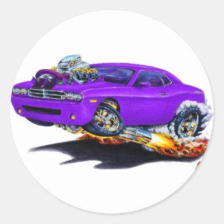 Coche 2008-10 de la púrpura del desafiador pegatina redonda