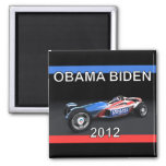 Coche 2012 de competición de Obama Biden - calient Imanes