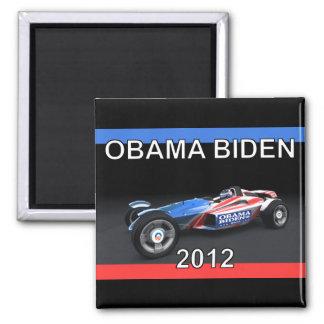Coche 2012 de competición de Obama Biden - calient Imán Cuadrado