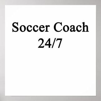 Coche 24/7 del fútbol póster