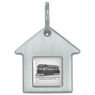 Coche #24 de Fairbanks Morse & Company Placas De Nombre De Mascota