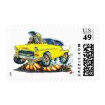 Coche amarillo 1955 de Chevy Belair