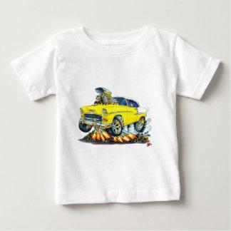 Coche amarillo 1955 de Chevy Belair Playera De Bebé