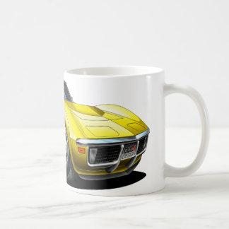 Coche amarillo 1968-72 del Corvette Taza De Café