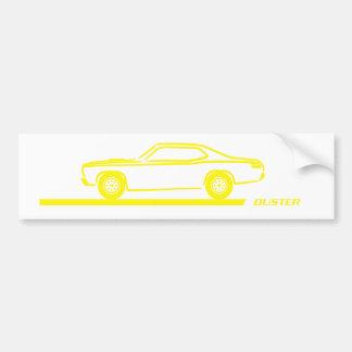 Coche amarillo 1970-74 del plumero pegatina de parachoque