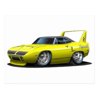 Coche amarillo 1970 de Plymouth Superbird Postal