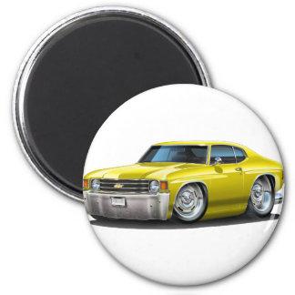 Coche amarillo 1971-72 de Chevelle Imán Redondo 5 Cm