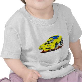 Coche amarillo 1979-81 del transporte camisetas