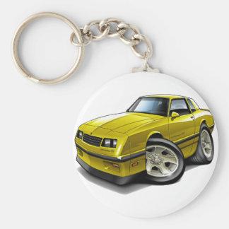 Coche amarillo 1983-88 de Monte Carlo Llavero Redondo Tipo Pin