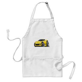Coche amarillo 2005-09 del Corvette Delantal