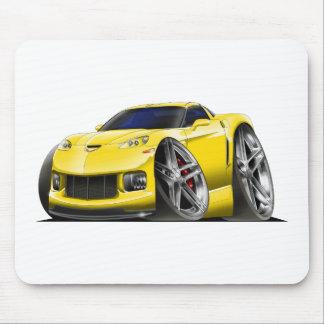 Coche amarillo 2005-09 del Corvette Mouse Pads
