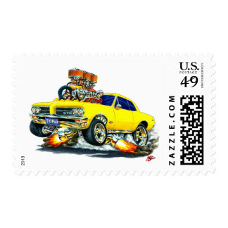 Coche amarillo de 1964 GTO Estampillas