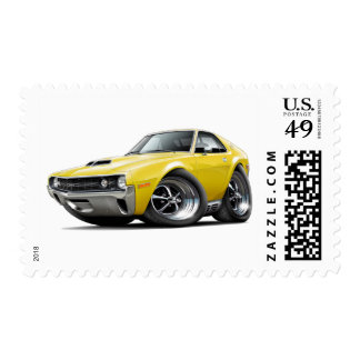 Coche amarillo de 1970 AMX Sellos