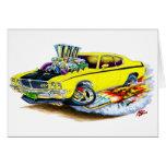 Coche amarillo de Buick GSX Felicitación