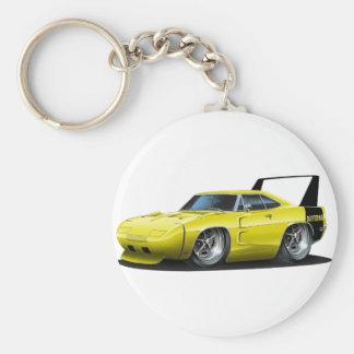 Coche amarillo de Dodge Daytona Llavero Personalizado