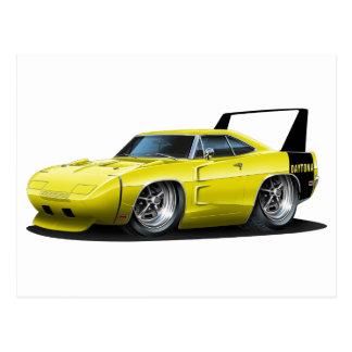 Coche amarillo de Dodge Daytona Tarjetas Postales