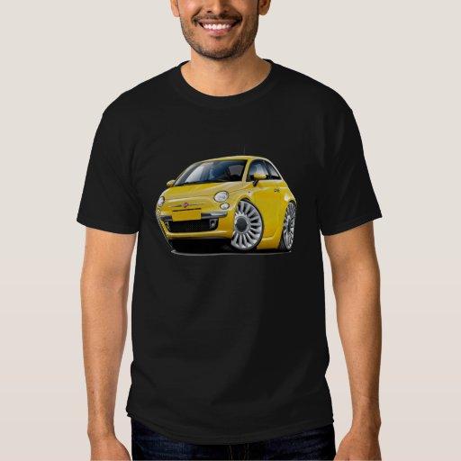 Coche amarillo de Fiat 500 Camisas