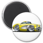 Coche amarillo del Corvette Iman Para Frigorífico