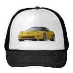 Coche amarillo del Corvette ZR1 Gorras